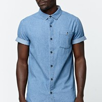 Shirt - Mens Shirt - Blue