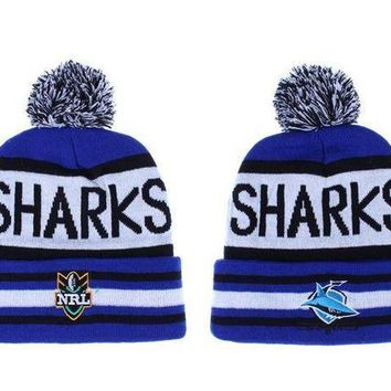 Cronulla Sharks Beanies Nrl Football Hat