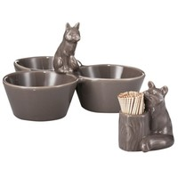 Threshold™ Fox bowl and Serve Dish Set of 2