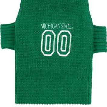 Michigan State Spartans Pet Sweater LG
