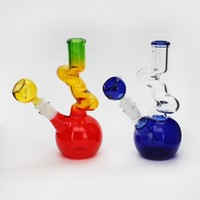 "8"" ZIG ZAG Water Pipe with Round Base"