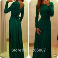 Trendy Ladys Long Sleeve Mermaid Maxi Long Dress Evening Party Prom @KF204gr