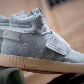 Adidas Tubular invader 750 Blue Women Snekaer BB8393