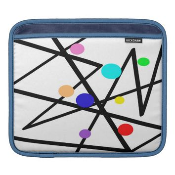 modern art ipad sleeve colorful abstract design