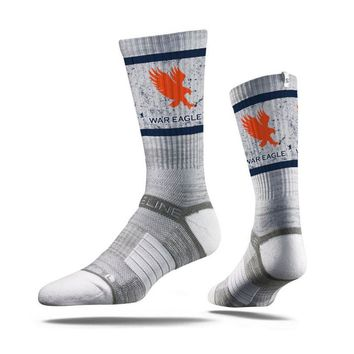 Strideline AUBURN Tigers Collegiate War Eagle Grey - Crew Socks