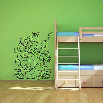 Wall Mural Vinyl Sticker Decal     dog guy fear DA1193