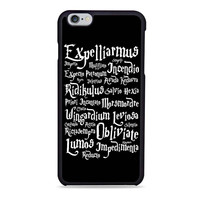 Harry Potter Magic spells black Iphone 6 Cases