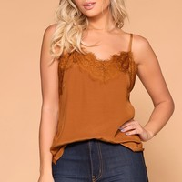 Amber Rust Lace Tank Top