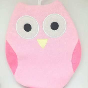 Olivia the Owl - Terry Bath Mitt