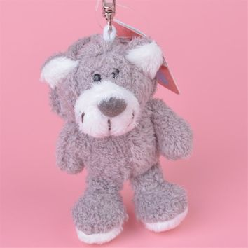 3 Pcs Grey Cap Bear Plush Pendant Toy, Kids Doll  Keychain / Keyholder Gift Free Shipping