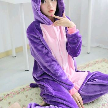 Anime Sailor Moon Diana Purple Luna Cat Onesuits Adult Pyjamas Children Cosplay Costume Winter Pajamas Halloween Party Dress