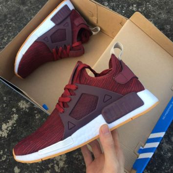 """Adidas"" NMD XR1 Duck Camo Women Men Running Sport Casual Shoes Sneakers Camouflage wine red"