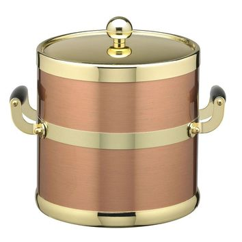 Kraftware Americano 5-qt. Copper & Brass Ice Bucket (Brown)