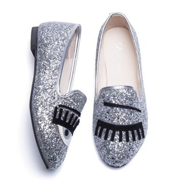 COOTELILI Brand Designer Women Flats Oxford Casual Shoes Woman Female Loafers Eyes Seq