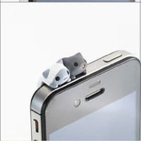 Amazon.com: 1pc Cheese Twins Cat 3.5mm Anti Dust Earphone Jack Plug Stopper Cap for Iphone HTC: Cell Phones & Accessories