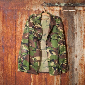 Halloween costume vintage man's Holland army shirt field jacket military shirt olive green canvas jacket military  jacket camo army shirt