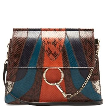 Faye medium snakeskin and leather shoulder bag | Chloé | MATCHESFASHION.COM US