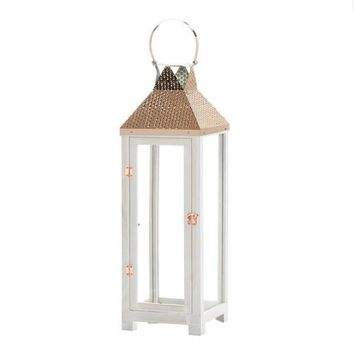 Set of 2 Hartford Large Wooden Lanterns