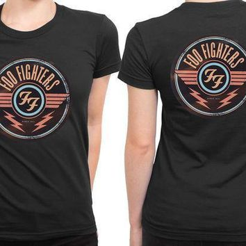 Foo Fighter Logo Vintage And Retro Version 2 Sided Womens T Shirt