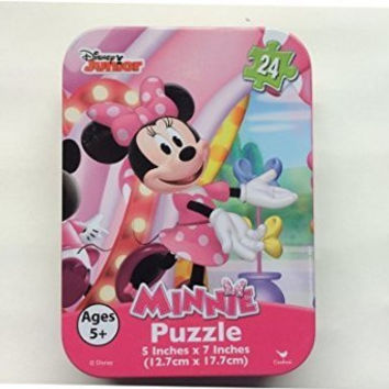 Disney Junior Minnie Mouse Jigsaw Puzzle -- Mini 24-Piece Puzzle in Collectible Travel Tin