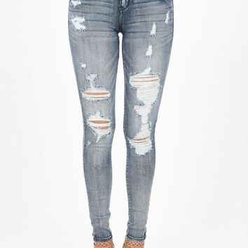 Washed Out Destroyed Skinny Jean (final sale)