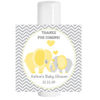 Elephant Yellow Baby Shower Lip Balm Chap Stick Favors