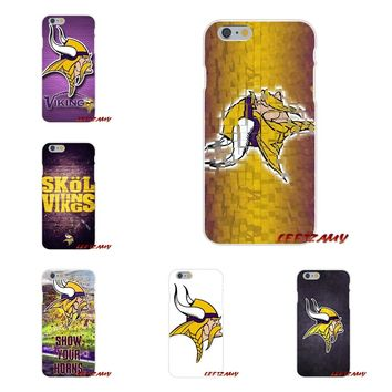 Minnesota Vikings Slim Silicone phone Case For iPhone X 4 4S 5 5S 5C SE 6 6S 7 8 Plus