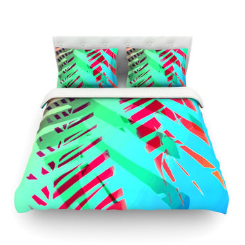 """Alison Coxon """"Cool Tropical"""" Blue Green Featherweight Duvet Cover"""