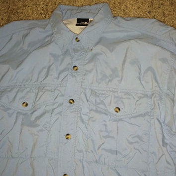 Sale!! Vintage THE NORTH FACE casual button downs Shirt Tnf long sleeve tee