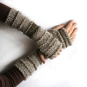 Long Fingerless gloves , Wool knit fingerless glove, Multicolored fingerless arm warmer, Elegant woman gloves