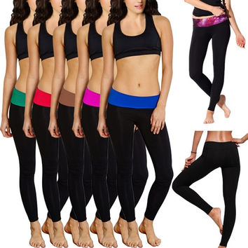 Women Spandex Soft Comfy Cotton Yoga Sweat Lounge Gym Sports Athletic Pants = 1931949060