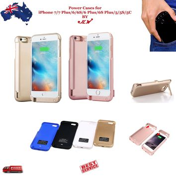 JLW Power Bank Charger Battery Case for Apple iPhone 7 6 6S Plus 5 5S 5C