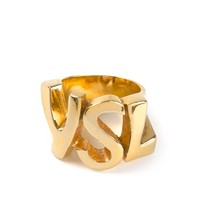 Yves Saint Laurent Vintage Cut-Out Logo Ring From Rewind Vintage affairs