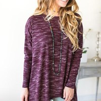 Going to Market Burgundy Open Back Tunic