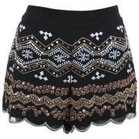 Embellished Knicker Short - Shorts  - Apparel