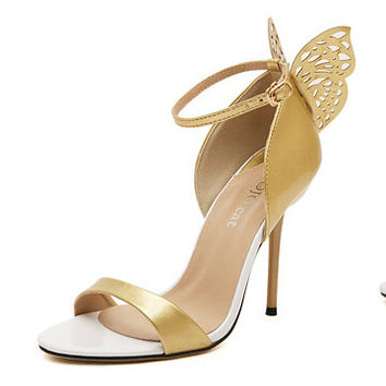 Butterfly Wing Glam Wedding Shoes