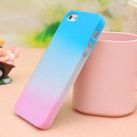 Colourful Gradient Frosted Hard Cover Case For Iphone 5