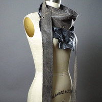 Leather Scarf - Long Leather Scarf - Women's Wrap Belt - Festival Clothing - Leather Scarf - Festival Leather Belt