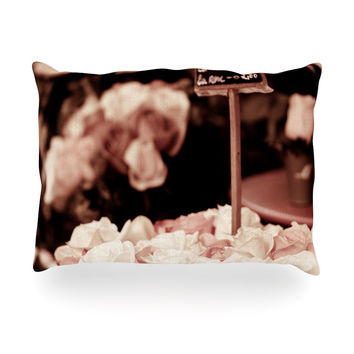 "Ann Barnes ""Paris Flower Market"" Oblong Pillow"