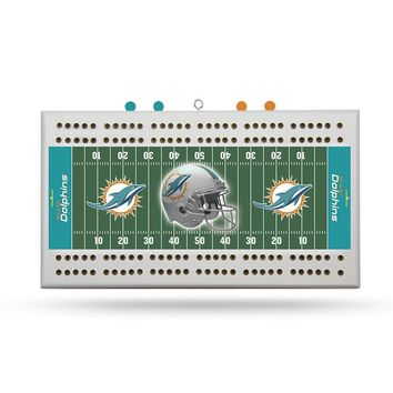 Miami Dolphins NFL Cribbage Board