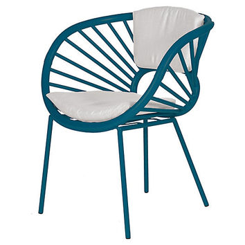 Aura Accent Chair, Pacific Blue - Accent Chairs - Chairs - Living Room - Furniture | One Kings Lane