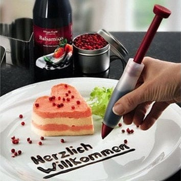 Home & Kitchen Silicone Cake Cookie Pastry Lcing Decorating Syringe Cream Chocolate Plate Pen