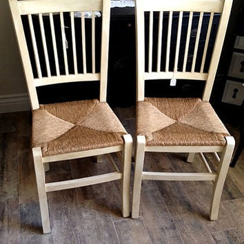 Wood And Cane Chairs