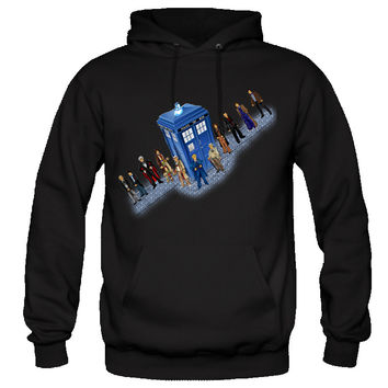 Doctor Who Hoodie Police Box Characters