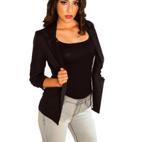 Linen Day Blazer - Black