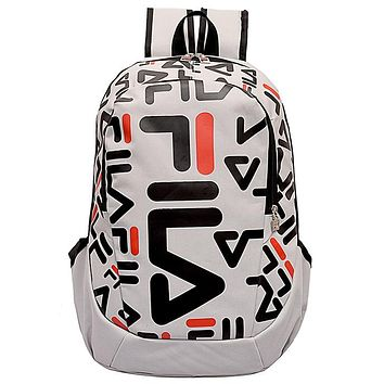 Fila 2019 new men and women style street fashion graffiti sports bag backpack beige