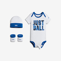 "The Nike LeBron ""Just Ball"" Three-Piece Infant Boys' Set."