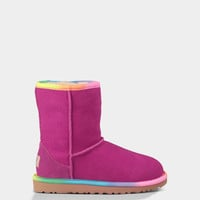 UGG® Classic Short Rainbow for kids | Free shipping at UGGAustralia.com