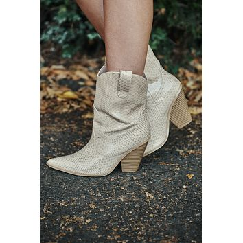 Country Chic Cowgirl Boots (Nude)