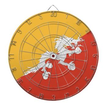 Dartboard with Flag of Bhutan